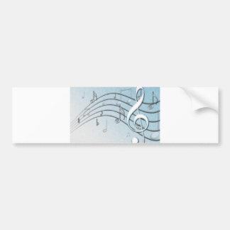 Music Lyrics Bumper Sticker