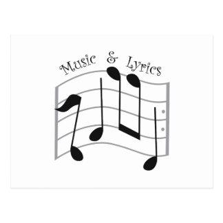 Music & Lyrics Postcard