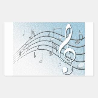 Music Lyrics Rectangular Sticker