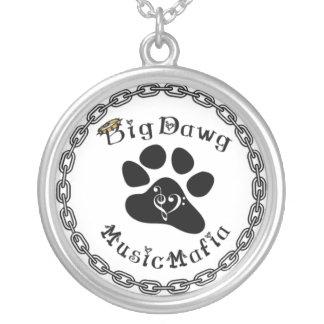 Music Mafia Gear Silver Plated Necklace