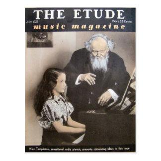 Music Magazine, 'The Etude' July 1939 Postcard