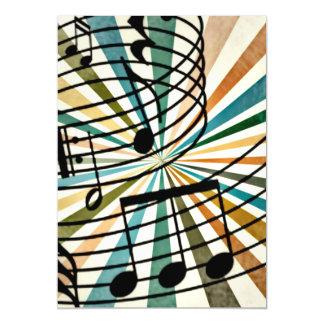 Music Magnetic Invitations