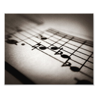 Music, Magnified Photo Print