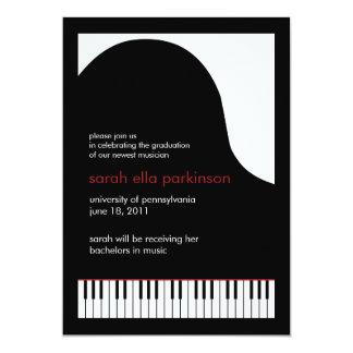 Music Major Grand Piano Graduation Announcement