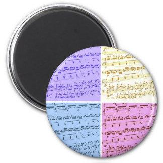 Music Major/Student/Teacher 6 Cm Round Magnet