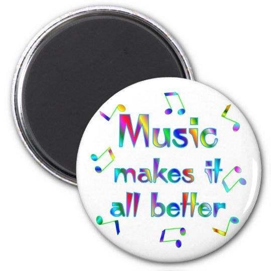 Music Makes it Better 6 Cm Round Magnet