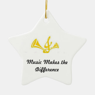Music Makes the Difference Christmas Ornament