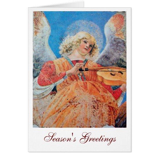 MUSIC MAKING CHRISTMAS ANGEL CARD