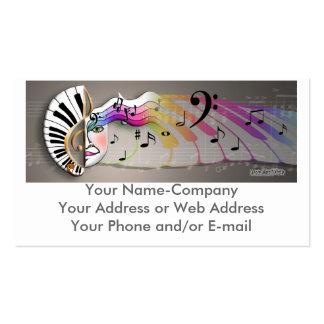 Music Mask MUG, Your Name-CompanyYour Address o... Business Card