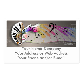 Music Mask MUG, Your Name-CompanyYour Address o... Pack Of Standard Business Cards