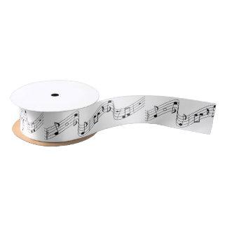 music melody satin ribbon