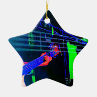Music Mike- Neon Version Christmas Ornament