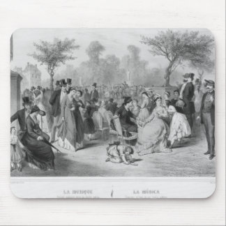 Music, military concert in a public garden mouse mat