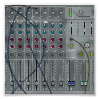 Music Mixing Desk Poster
