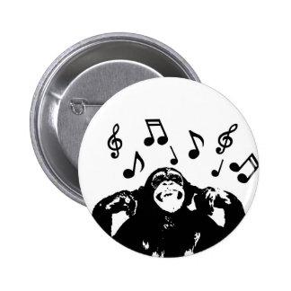 music monkeymonkey 6 cm round badge