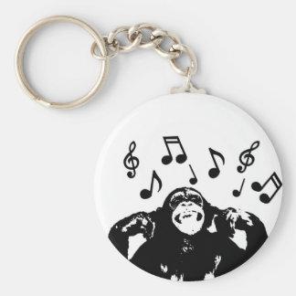 music monkeymonkey basic round button key ring