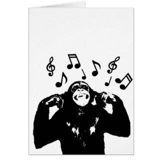music monkeymonkey greeting card