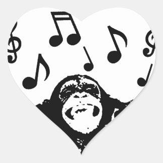 music monkeymonkey heart sticker