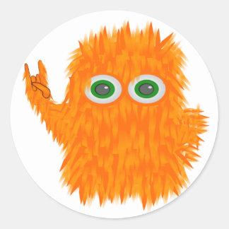 Music Monster Round Sticker