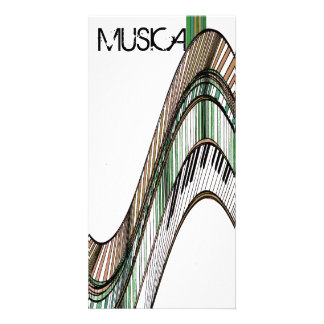 Music Musical Keyboards Piano Gift Card Photo Card