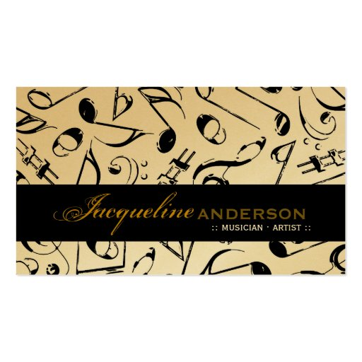 Music Musical Notes Pattern Artist Singing Song Business Cards