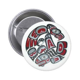 Music Native American Tribal Totem 6 Cm Round Badge