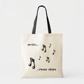 Music never stops tote