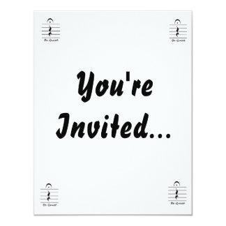Music Notation Rest Be Quiet 11 Cm X 14 Cm Invitation Card