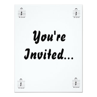 Music Notation Rest Be Quiet Personalized Invitation