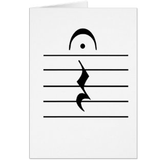 Music Notation Rest Blank Greeting Cards