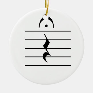 Music Notation Rest Blank Christmas Ornament