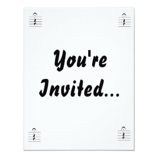 Music Notation Rest Blank Personalized Announcement
