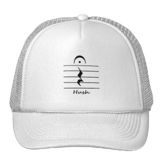 Music Notation Rest with Hush Trucker Hat