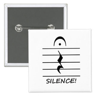 Music Notation Rest with Silence Pin