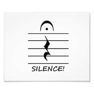 Music Notation Rest with Silence Photograph
