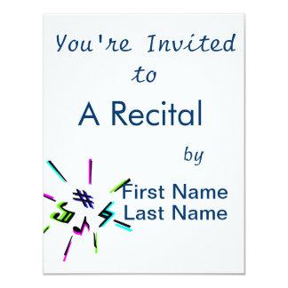 Music notation symbols graphic invite