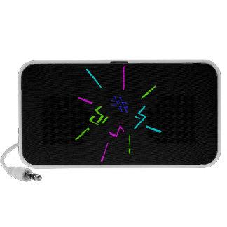 Music notation symbols graphic speakers