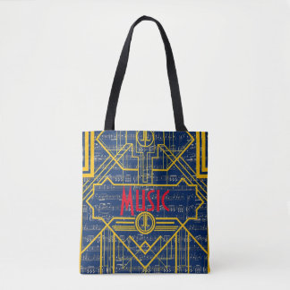 Music Note !920's Art Deco Tote Bag