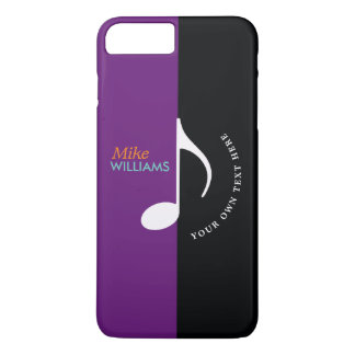 music note ~ black & purple cool iPhone 8 plus/7 plus case