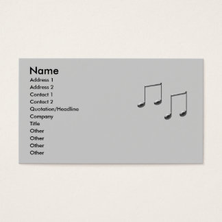MUSIC NOTE BUSINESS CARD PROFILE CARD