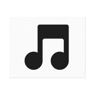 Music Note Stretched Canvas Prints