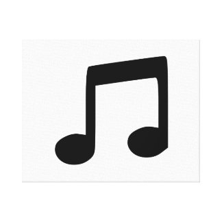 Music Note Stretched Canvas Print