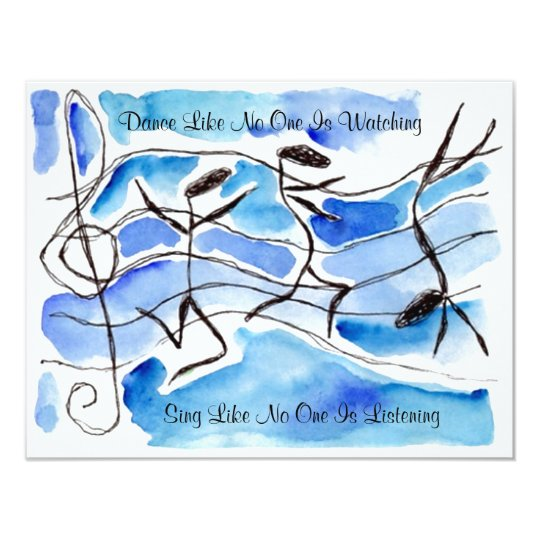 Music Note Dancers Dance Sing Party INVITATION