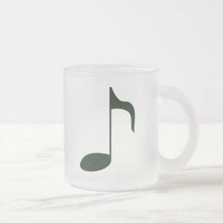 music note frosted glass coffee mug