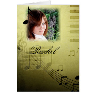 Music Note Graduation Thank You Note Card