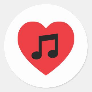 Music Note Heart Sticker