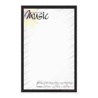 Music Note Paper Stationery Design