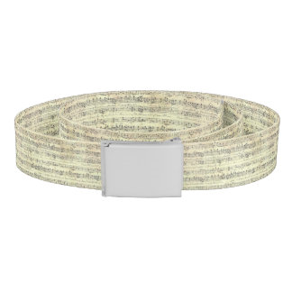music note Pattern Music Theme Belt