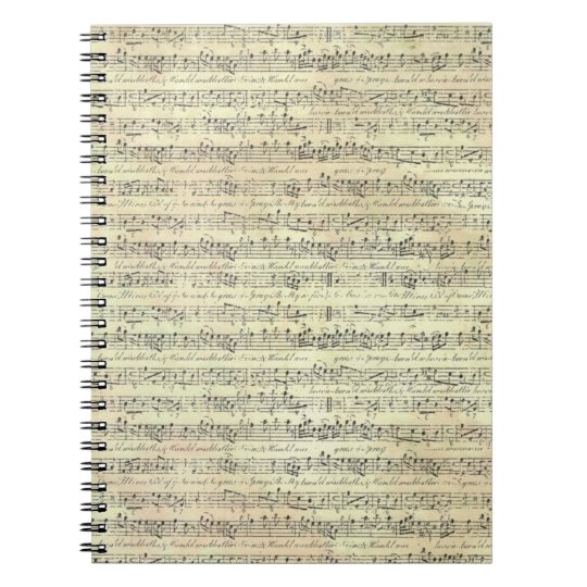 music note Pattern Music Theme Notebook