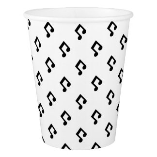Music Note Pattern Paper Cups